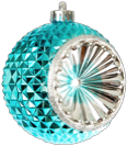 Aqua Christmas ornament